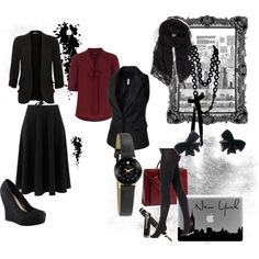 """Corp Goth"" by cmluko on Polyvore"