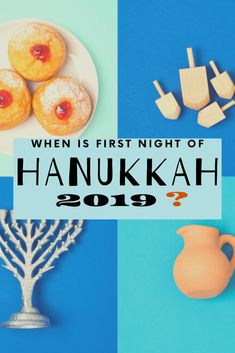 PLANNING A HANUKKAH PARTY? WHEN IS THE FIRST NIGHT OF HANUKKAH 2019?   In 2019, Hanukkah will be from the evening of Sunday, 22nd December until the evening of Monday, 30th December.  When Should We Light The Hanukkah Candles? Not a specific time, like Shabbat candles. There are a few guidelines.. ==> Wait 10 - 15 minutes after sunset  ==> Not before sunset   Need a refresher on Hanukkah traditions, recipes, songs and games? Get a copy of our 20 page, beautiful guidebook to 8 traditions… Jewish Festival Of Lights, Jewish Festivals, Festival Lights, Hanukkah 2019, Feliz Hanukkah, Shabbat Candles, Hanukkah Candles, Plan A, How To Plan