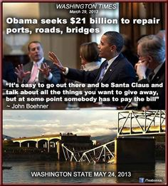 Perhaps we should start focusing on our failing infrastructure at some point, eh John Boehner?