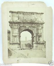 Antique Albumen Photo Print Rome Roma Arco di Tito Arch of Titus Brogi Sommer ?