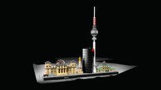Capture the architectural essence of Berlin with this magnificent Lego set that brings together the iconic Reichstag, Victory Column, Deutsche Bahn Tower, Berlin TV Tower and the Brandenburg Gate, in an inspirational skyline setting. Countries Around The World, Around The Worlds, Brandenburg Gate, Lego Architecture, Burj Khalifa, Lego Sets, Cn Tower, Legos, Skyline