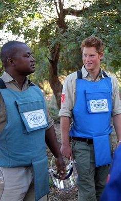 Prince Harry followed in the footsteps of his late mother visiting the The HALO Trust (a British charity that is dedicated to the removal of landmines).
