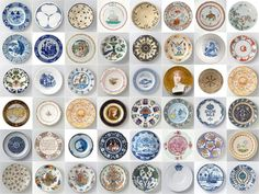 From Ixxi (ixxi.nu), Plates Rijksmuseum is a set of wallpaper cards from original Rijksmuseum ceramics. Each card has a different design on the back, so you can make your own pattern with them. Very fun! Ceramic Plates, Decorative Plates, Diy Wall Art, Wall Decor, Plate Collage, Photo Mural, Rug, Home Trends, Of Wallpaper
