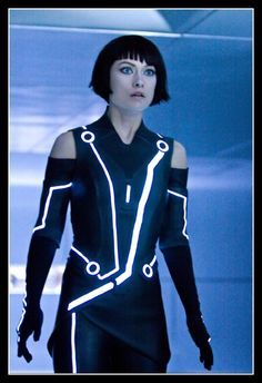 Tron Legacy Quorra Costume Tron Costume, Cosplay Costumes, Movie Costumes, Olivia Wilde Tron Legacy, Die Wilde 13, Science Fiction, Image Film, Space Fashion, Light In