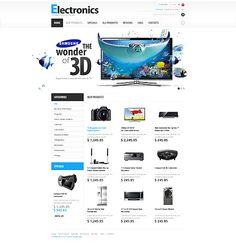 Electronics Online ZenCart Templates by Mercury