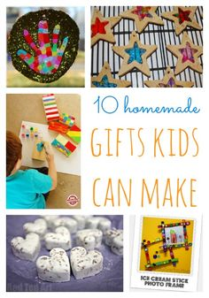 10 great ideas for Christmas presents children can make themselves. #handmadegifts #kidsactivities  #Christmas #KidsActivities