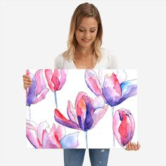 Purple Magnolias poster by from collection. By buying 1 Displate, you plant 1 tree. Purple Wall Decor, Purple Walls, Poster Prints, Posters, Magnetic Wall, 3 Shop, Wood Patterns, Magnolias, Poster Making