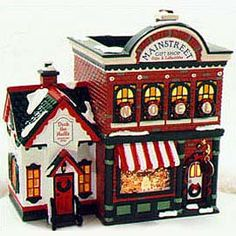 Department 56 Snow Village Mainstreet Gift Shop *** To view further for this item, visit the image link. Christmas Cookie Jars, Christmas Town, Christmas Villages, Christmas Holidays, Christmas Ideas, Christmas Desserts, Christmas Decor, Merry Christmas, Department 56 Christmas Village