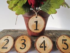 Wedding Table Number Rustic Table Number by DivineRusticCreation, $3.85