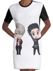 Viktuuri Chibis - Yuri!!! on Ice  Graphic T-Shirt Dress