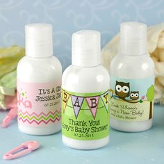 Baby Shower Hand Lotion, Personalized Lotion Favors, Baby Shower Favors