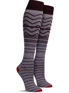 Metallic Optic Frills Knee High Socks