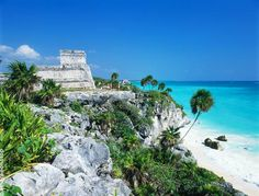 "Tulum, Mexico ..... The place of an ancient ""light house"" which guides through a reef entrance..."