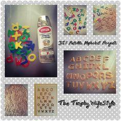 DIY Metallic Alphabet Magnets