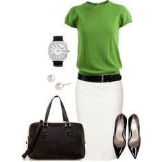 No. 36 Work it ! by hbhamburg on Polyvore featuring Milly, Donna Karan, Jean-Michel Cazabat, Zara, Lipsy, Givenchy, Black & Brown London, pencil skirts, green and black pumps