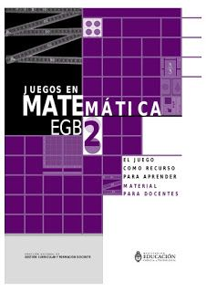 Juegos en matemática - EGB- EL JUEGO COMO RECURSO PARA APRENDER. Ebook gratuito | Libros y recursos gratuitos para educar