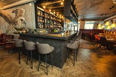 RESTAURANT | Kol Restaurant, Reykjavik, Iceland. Great food, welcoming atmosphere. #Kol #Restaurant #Reykjavik #Modern #Interiors #Food #Design #Fish #Fine #Cuisine #Concrete #Mural #Timber #Flooring #Metalwork #Lighting #Back #Bar #Display #Presentation [ok]