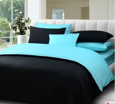 Black and blue bedroom. | My Style | Pinterest | Blue bedrooms ...
