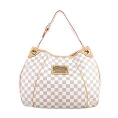 "Louis Vuitton Damier Azur Galliera PM Shoulder Handbag  great condition  measures 15 x 11 x 4 ""  asking $710  comment for more information or to purchase this item"