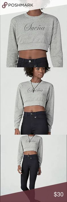 True religion Cropped boxy Suena sweatshirt tee NWT TRUE RELIGION WOMEN SHIRT STYLE:WYCC403UK0 Joan Suena Cropped Sweatshirt women shirt  COLOR: HEATHER GREY MACHINE WASH COLD LONG SLEEVES  Condition: NEW WITH TAGS   MATERIAL: 51% POLY 44% COTTON 5% RAYON  MADE IN USA RETAIL PRICE $128.00 + TAX True Religion Tops Sweatshirts & Hoodies