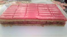puncsos-szelet My Recipes, Cake Recipes, Dessert Recipes, Cooking Recipes, Rhubarb Recipes, Hungarian Desserts, Hungarian Recipes, Cake Bars, Food To Make