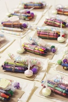 Put crayons at the kids table - Impossibly Fun Wedding Ideas Wedding Crafts, Diy Wedding Decorations, Wedding Favours, Romantic Wedding Centerpieces, Indian Wedding Favors, Wedding Sweets, Party Favors, Kids Table Wedding, Wedding With Kids