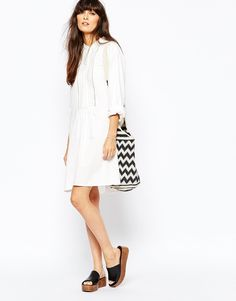 Image 4 of Vanessa Bruno Athe Daphnee 70s Tunic Dress