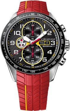 Graham Watch Silverstone Racing Red Yellow Pre-Order #add-content #basel-16…