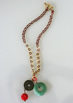 this one was a lot of work! each jump ring was handmade, two strands of jump rings connect to a round jade pendant Washer Necklace, Beaded Necklace, Jade Pendant, Strands, Jewerly, Connect, Jewelry Design, Jewelry Making, Rings