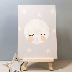 moon and stars a6 postcard by vickyriley   notonthehighstreet.com