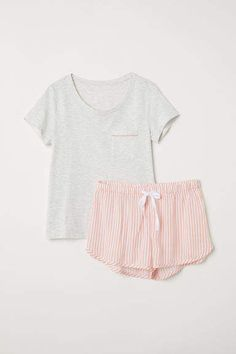 f21d9599b804 H M Pajama Top and Shorts - Gray H m Shorts