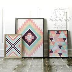 Geometric print PRINTABLE artmodern by TheCrownPrints on Etsy