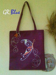 Handmade decorated shopping bag. https://www.etsy.com