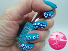Blue Dotticure Nails  #polish #nails #nailart #polish - bellashoot.com