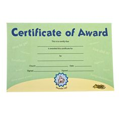 Cubbies Recognition Certificate Awana Amp Children S
