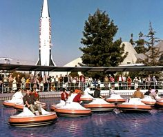 Disneyland's Flying Saucers attraction openened in Tomorrowland in 1961 and closed just five years later