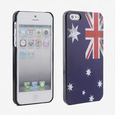 Australian Flag Frosted Matte Hard Back Apple iPhone 5 Case - USD $ 5.3