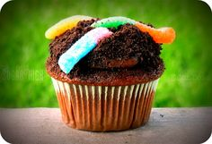 worms and dirt cupcakes