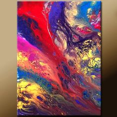Abstract Art - 18x24 Contemporary Modern Original Canvas Art Painting by Destiny Womack - dWo - Beyond
