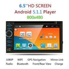 """Universal 6.2"""" HD 2Din Android 5.5.1 Capacitive Touch Screen Quad Core Car DVD Player GPS Navigation Bluetooth WIFI SD/USB/FM/AM"""