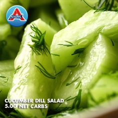 This Cucumber-Dill Salad goes great as a side dish. Induction followers can have 1/2 cup of this salad; people in Phases 2-4 can eat 1 cup.