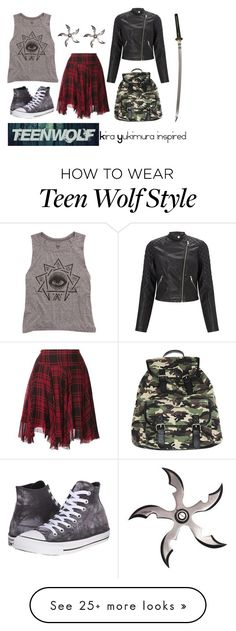 """Kira Yukimura inspired outfit // Teen Wolf"" by misscreepyashell on Polyvore featuring Converse, Billabong, Polo Ralph Lauren, Lipsy and Wet Seal"