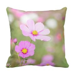 Shop Romantic Floral Throw Pillow created by SeeingNature. Cosmos Flowers, Pillow Fight, Floral Throw Pillows, Rustic Style, Designers, Romantic, Creative, How To Make, Beautiful
