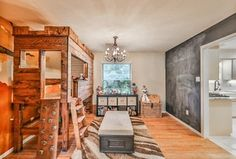 """""""View this Great Eclectic Playroom with Hardwood floors & Carpet in Houston, TX. The home was built in 1967 and is 2234 square feet. Discover & browse thousands of other home design ideas on Zillow Digs."""""""