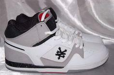 Zoo York Sneakers Woodhaven 10.5 White Gray Skate Shoes Hi Tops 42137 #ZooYork…