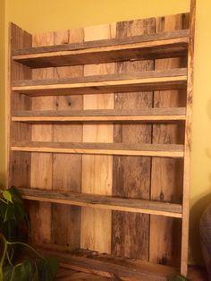 Pallet essential oil shelf