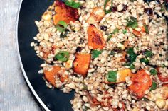 Pearl Barley with Hazelnuts and Butternut Squash - The 'YES' Chef