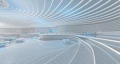 Concept Architecture, Futuristic Architecture, Interior Architecture, Chinese Architecture, Tv Set Design, Stage Set Design, Futuristic Interior, Futuristic Design, Office Interior Design