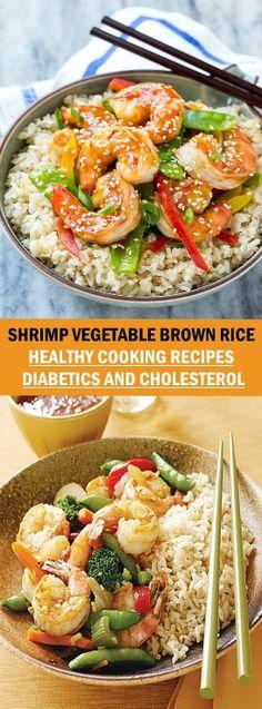 SHRIMP VEGETABLE BROWN RICE #shrimpvegetable #brownrice #healthyrecipes