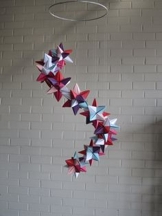 Origami Paper star mobile